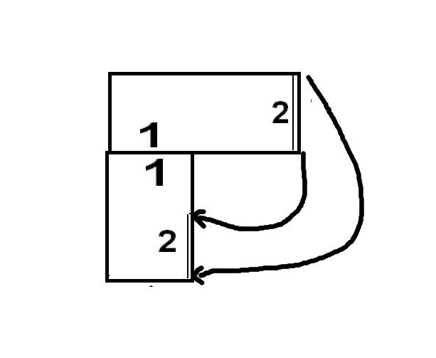 poncho 2 carrés