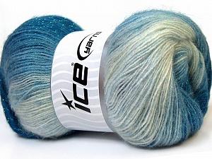 angora color glitz nuances de bleus