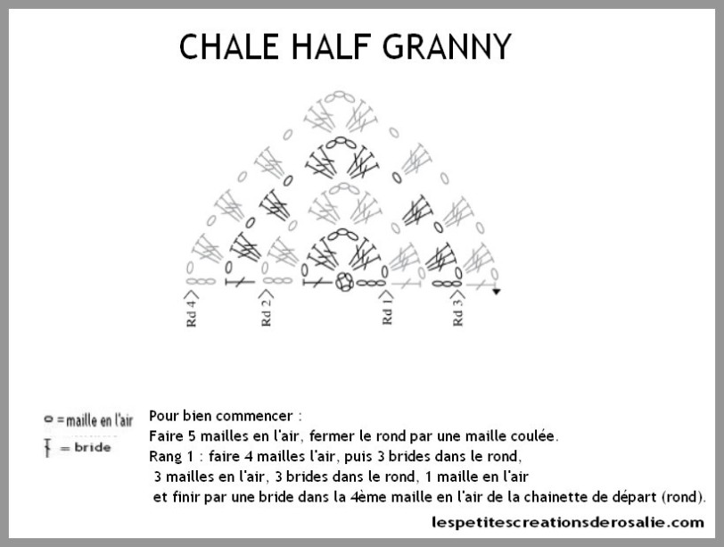 châle half granny by rosalie