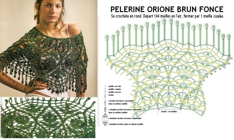 pèlerine orione brun foncé