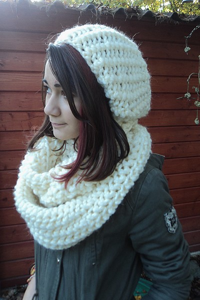f7bb6a56fa06 Tuto and co   Snood XXL et bonnet Slouchy au tricot! (très facile ...