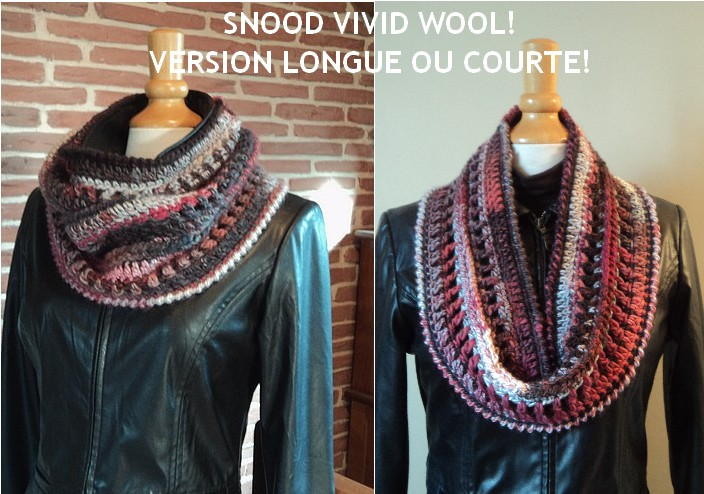 SNOOD VIVID WOOL VERSION LONGUE OU COURTE