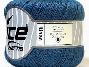 linen bleu tunique