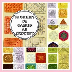 50 grilles de carrés au crochet