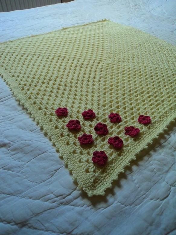 Petit Plaid Bébé Granny Tendresse Crochet Facile