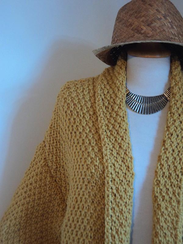 Tuto incontournable cet automne la magnifique veste au point de bl tricot facile rapide - Point de ble au tricot ...