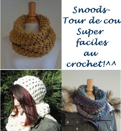 Tuto Les Jolis Snoods Au Crochet Super Faciles Sont De